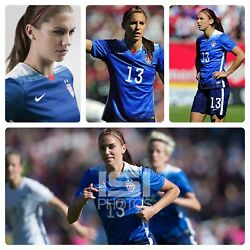 Nike Rare Uswnt Usa Womens Soccer 2015 Away 13 Morgan Player Issue Jersey M