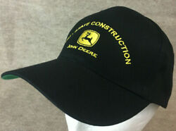 John Deere Snapback Hat Black Tri State Construction Hit Wear Cotton Adjustable $129.99