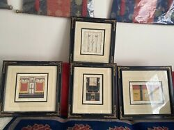 Colletible Of 4 Antique Lithograph Of Art