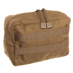 Tac Shield Horizontal Molle Gp Utility Pouch Coyote Brown Usa Made