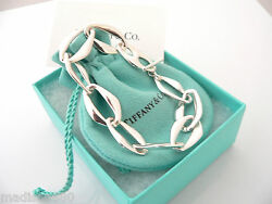 And Co Silver Peretti Aegean Bracelet Bangle Link Chain Gift Box Pouch