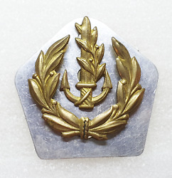 Israel Idf Navy Navel Old And Obsolete Officer Cap Hat Badge Pin Insignia