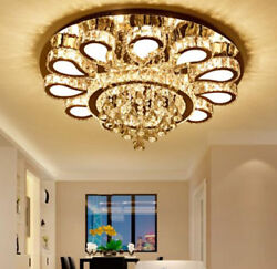 Modern simple hall round LED crystal ceiling lamp living room bedroom lights