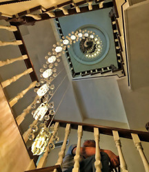 Rotate Led Crystal Ceiling Light Stairs Light Pendant Lamp Chandelier Fixtures A