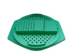 Vintage Green Tupperware Veg Grater Cheese Slicer Replacement Parts 2 Piece