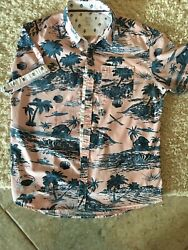 Sunrise Kingdom Shirt Beach Palm Hawaiian Men's Medium