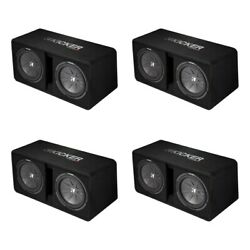 Kicker Dual Compr 12 2000w 2-ohm High-performance Subwoofer Enclosure 4 Pack