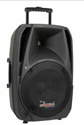 2pcs 15and039and039 Professional Passive Pro Audio Pa Karaoke Speaker 1200w