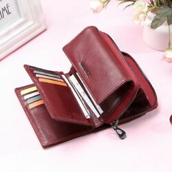 Ladies Two Cards Organizer Zipper Coin Purse And Wallets Polyester Solid Pattern