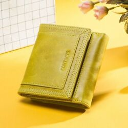 Two Folding Organizer Wallet For Women Hasp Coin Purse Leather Fashion Style New