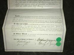 Brigham Young Mary Ann Young Signed 1873 Land Deed Salt Lake City Mormon Rare