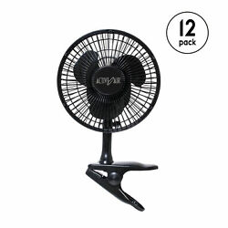 Active Air Horf6 Hydroponic 5w Brushless Motor 6-inch Clipon Garden Fan, 12 Pack