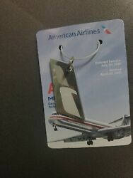 American Airlines Md80 Genuine Skin Tail N582aa 1991-2015 Commemorative Keychain