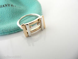 And Co Silver 18k Gold Gehry Axis Ring Band Sz 6 Rare Gift Pouch Love