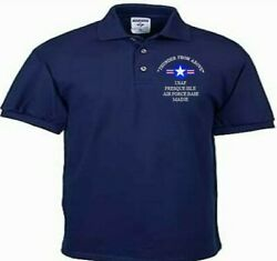 Presque Isle Air Force Base Maineusafembroidered Lightweight Polo Shirt