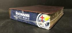 Rock Of Ages Study Bible Kjv King James Version Brown Leather Gilded Edge - New