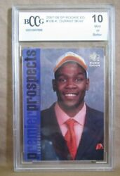 Kevin Durant Rc 2007-08 Sp Rookie Edition Card106 Graded Bccg10 Warriors Rc G5