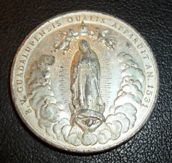 By S. Johnson Italy 1895 Our Lady Of Guadalupe Cherubs Angels Highly Relief Rare