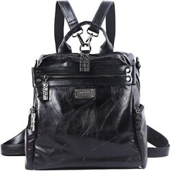 Mini Backpack Purse for Women AB Earth Convertible Waterproof Rucksack Faux Le $75.37