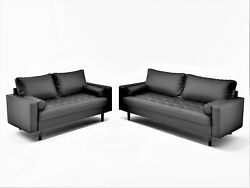 Container Furniture Direct S5453-l Orion Mid Century Modern Pu Leather
