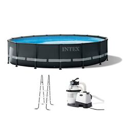 Intex Ultra Xtr 16ft X 48in Outdoor Frame Above Ground Swimming Pool Set W/ Pump