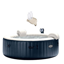 Intex Purespa Inflatable Jets 6 Person Hot Tub And Cup Holder Refreshment Tray