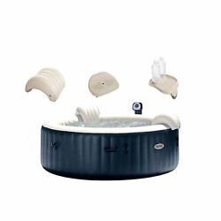 Intex Purespa 6 Person Hot Tub No Slip Seat Pillow Cup Holder And Drink Tray