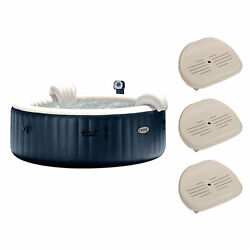 Intex Purespa Inflatable Bubble Jets 6 Person Hot Tub And Seat Inserts 3 Pack