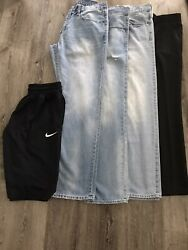 Men's American Eagle Jeans, Nike Dri Fit Shorts, And Kenneth Cole Dress Pants.