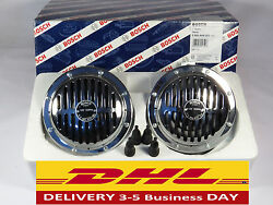 Bosch Horns Pair Grille Chrome Vintage Style Fits Porsche 356 And German Cars