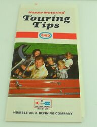 Enco Touring Tips Happy Motoring Humble Oil Gas Map 1971-1972 Travel Vacation