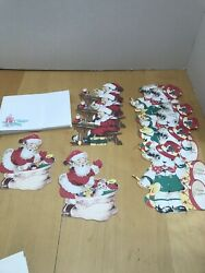 Lot Vtg 1930's Reproduction 1998 Gibson Christmas Greeting Cards Mechanical