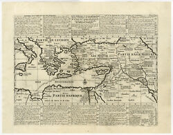 Antique Map-travels Of St. Paul-middle East-mediterranean-chatelain-1732