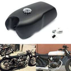 9l/2.4 Gallon Universal Motorcycle Cafe Racer Vintage Fuel Gas Tank And Cap Switch