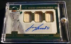 2016 Jose Canseco Panini The Great Entertainers Triple Bat Auto 13/15 713