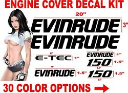 Evinrude Engine Cover Boat Motor Decal Decals Sticker Etec E-tec Outboard