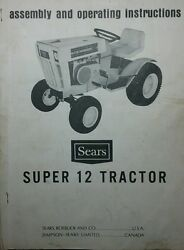 Sears Suburban Super-12 Ss-12 Lawn Garden Tractor 1969 Owners Manual 917.25510