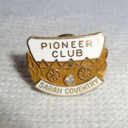 Rare Vintage Sarah Coventry 14 K Solid Gold Pioneer Club Pin With Diamond