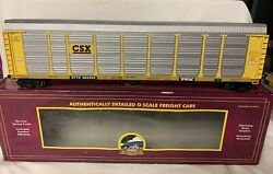 ✅mth Premier Csx Corrugated Auto Carrier 2 Available O Scale Screened Rack