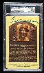 1981 National Baseball Hall of Fame and Museum Postcards Ted Williams Auto HOF