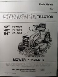 Snapper 1600 1650 1855 Riding Lawn Garden Tractor 42 48 And 54 Mower Parts Manual