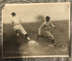 1927 Yankees Original Photo From 1927 World Series Game 1-earle Combs- Babe Ruth