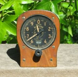 1930and039s-40and039s Pioneer Altimeter C15-2e Type 1528-2e-b Aircraft Instrument Panel