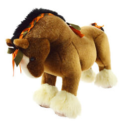 Rare Hermes Hermy Mm Baby Horse Plush Doll Brown Toy Italy 00980