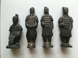 Collectable Chinese Terracotta Warrior Statues Vintage Asian Oriental Gift