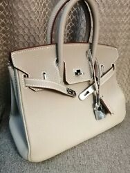 Hermes Birkin 25 Bag Palladium hardware 2020 Gray