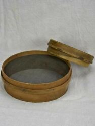 Two Antique French Flour Sieves
