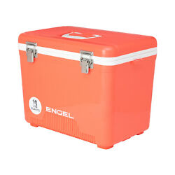 Engel 19 Quart 32 Can Leak Proof Odor Resistant Insulated Cooler Drybox Coral $59.99