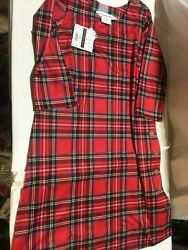 Nwt Gretchen Scott Button-up Duke Of York Buttercup Dress In Red Plaid