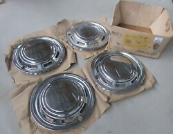 Fits 71-76 Ford Pinto 13 Chrome Wheel Cover Hubcap Del-met Saf-lok Triple Plate